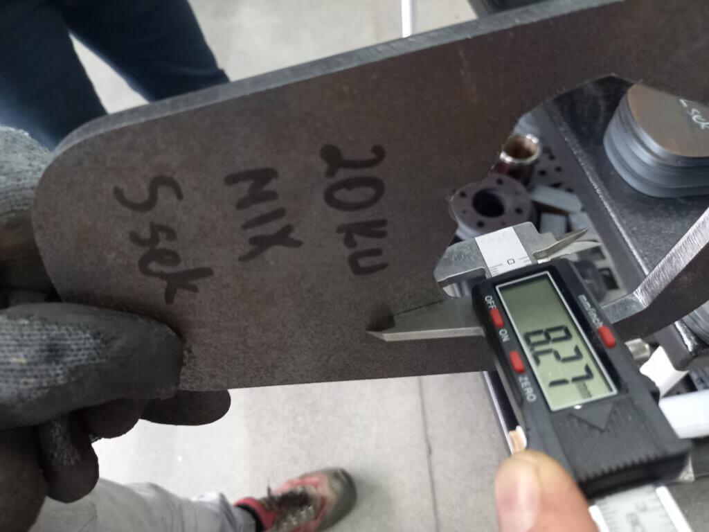 8 mm Miilux 500 kulutusterästä laserleikattuna .