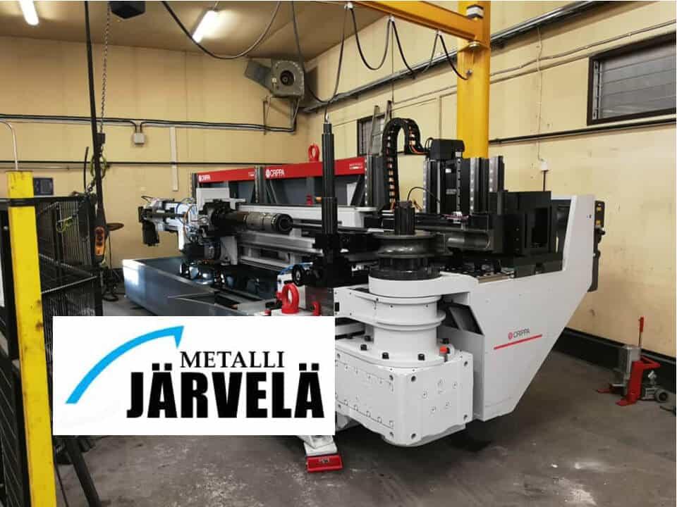 Metalli Järvelän putkentaivutuskapasiteetti vahvistuu jälleen ─ Nyt täyservotoiminen ja 9-akselinen Crippa 114HE.