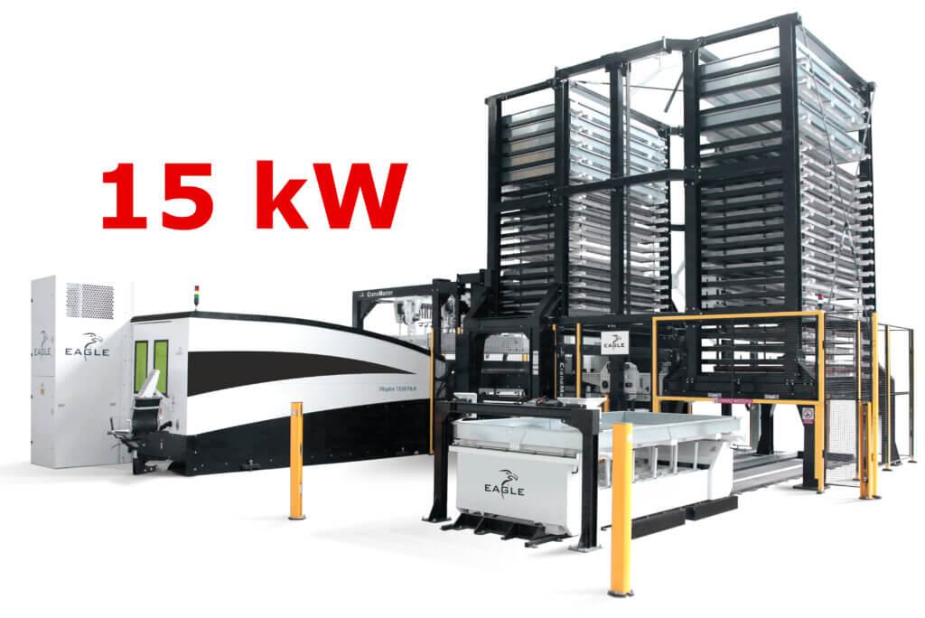 Suomen ensiesittelyssä on Eagle iNspire kuitutasolaser 15kW kuitulaserilla, 6G kiihtyvyydellä ja 9 sekunnin pöydänvaihtoajalla, mikä mahdollistaa ylivoimaisen kustannustehokkuuden konepajateollisuuden yleisellä 1-12 mm materiaalipaksuuksilla. Tämän lisäksi mahdollistaa myös erittäin paksujen 60 mm materiaalien leikkaamisen.