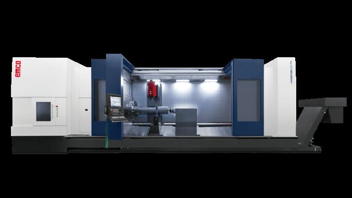 Jyrsinkaralla varustettuja monitoimisorveja EMCO valmistaa kolmea eri mallisarjaa 65, 100 ja 200, joiden sorvaushalkaisija on saatavissa 1000 mm ja sorvauspituus 6100 mm asti. Kuvassa EMCO HYPERTURN 200 POWERMILL.