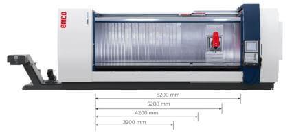 Liikkuva pylväisiä MMV-sarjan koneistuskeskuksia on saatavissa 5-, 4- ja 3-akseliseen koneistukseen, joiden kiinteät pöydät on saatavissa 3200-6200 mm.