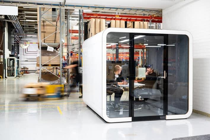 Frameryn työtilat tunnetaan toimistojen ääniongelmien ratkojina. Teollisuustiloissa ne toki toimivat samalla tavoin