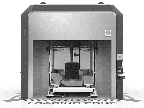Gefertec's 3D metal printers are suitable for the production of larger pieces with a maximum of 3 m³ and 3000 kg, especially thanks to low-cost and fast wire welding (max. Approx. 600 cm³ / h).