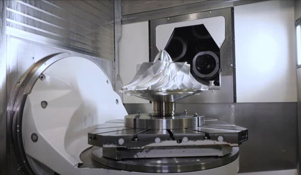 GROBin tarjoama prosessiosaaminen sekä ainutlaatuiset 5-akselit tarjosi merkittävän sykliaikaparannuksen erittäin tarkkojen ja haastavien impellerien valmistuksessa.