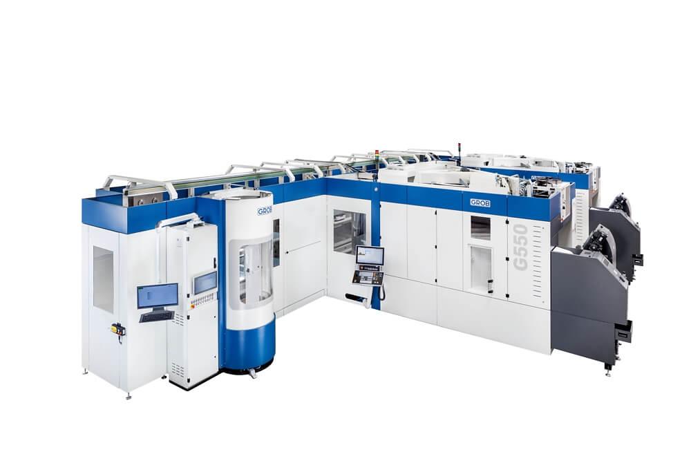 GROB tarjoaa 4- ja 5-akselisiin koneisiinsa täydellisen automaation. Valittavissa on älykkäitä lineaari- ja pyörivä palettivarasto- sekä robottiautomaatioratkaisuja.