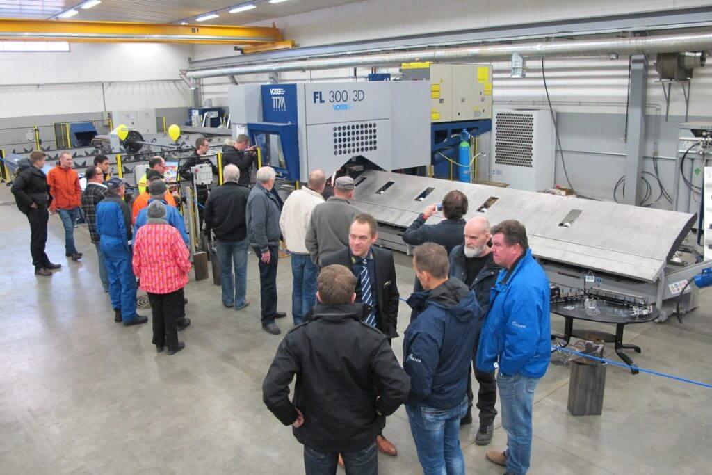 Tapahtuman vetonaulana toimi tammikuun alussa tuotantoon saatu TTM FL 300 3D -putkilaserleikkausjärjestelmä, jonka houkuttelemana paikalle saapui 450 kävijää.