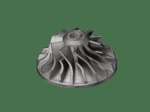 3D-metallitulostettu impelleri.