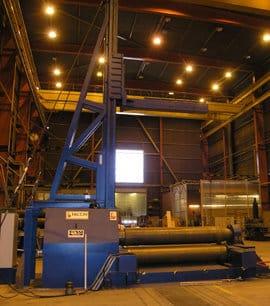 Japrotek Oy Ab hankki 4-telaisen, muuttavageometrisen Faccin HAV 3154 levynpyöristyskoneen lähinnä haastavia kartiotaivutuksia silmällä pitäen.