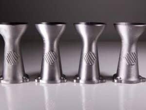 3D-metallitulostettuja osia.