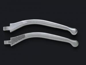 3D-metallitulostetut mottoripyörän jarrukahvat.