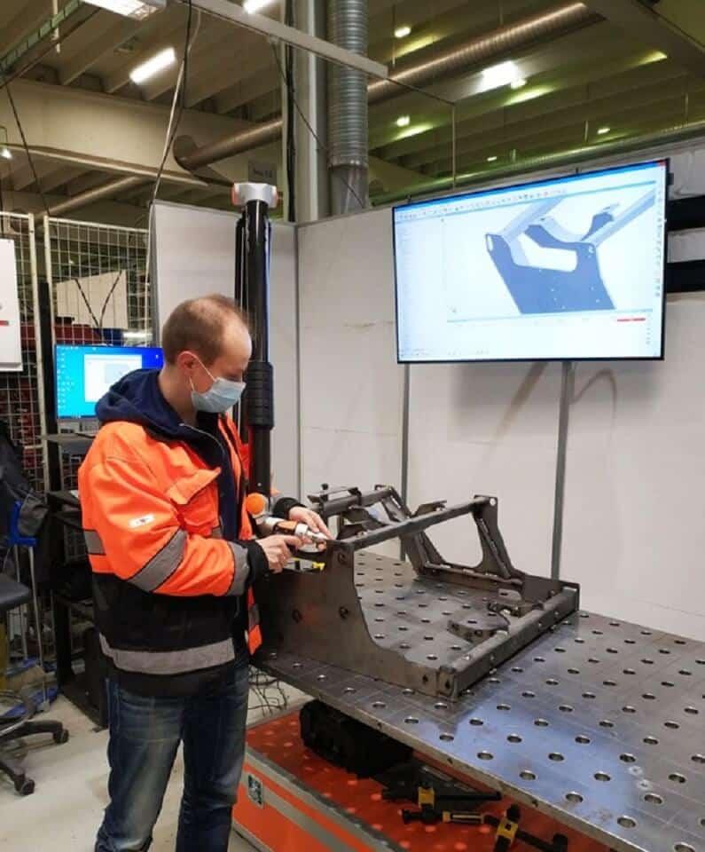 RPS:n EVO 4000 mm 3D-skannerivarsi varmentaa mittausprosessia ja automatisoi raportointia.