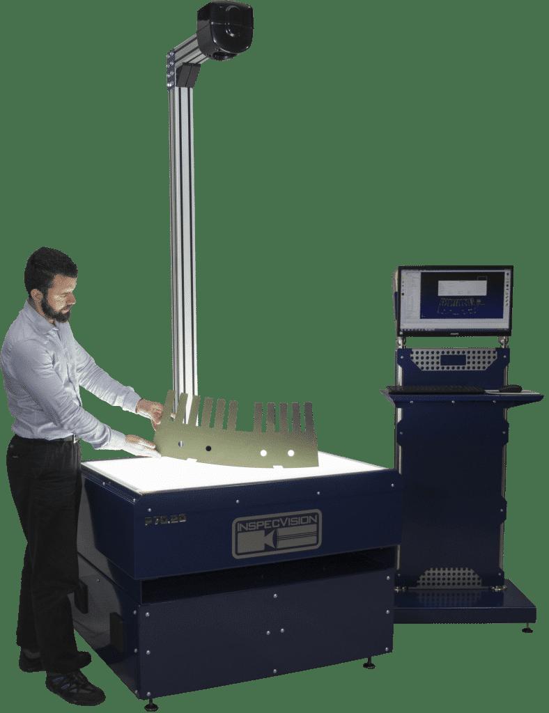 InspecVisionin Planar on järjestelmä tasomaisten eri materiaaleista valmistettujen kappaleiden mittaukseen.