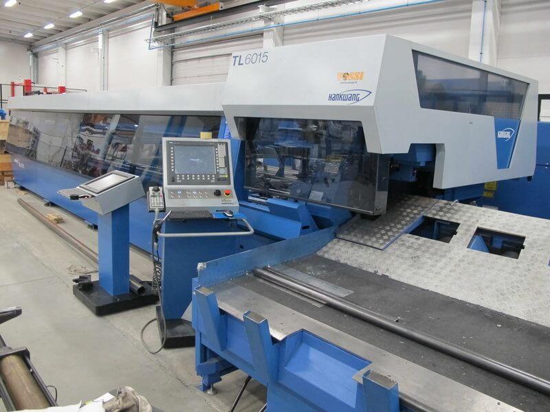 Hankwang TL6015 putkilasersolulla voidaan automatisoidusti työstää 6 metriä pitkiä putkimaisia tuotteita halkaisijaan 163,5 mm asti, s= 6,5 mm.