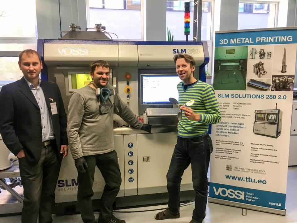SLM Solutions 280 Single700W 3D metalli printer at Tallinn Technical University.