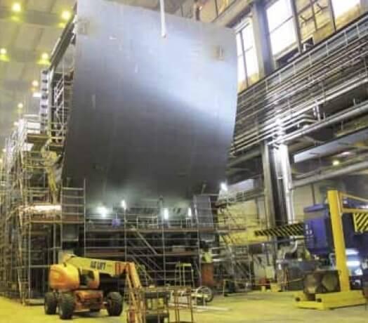 Technip Offshore Finland Oy suunnittelee ja valmistaa mm. spar-runkoja kelluviin öljyntuotantoyksiköihin.