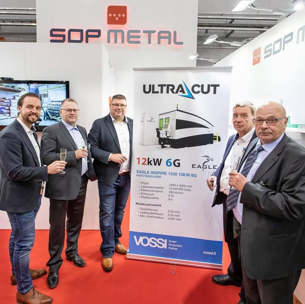 Messuilla solmittiin Suomen tehokkaimman ja nopeimman kuitutasolerin Eagle iNspire 12 kW toimittamisesta UltraCut Oy:lle Vaasaan.